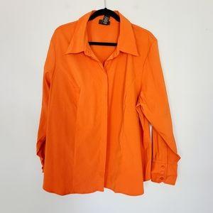 Lane Bryant Orange Button Down 22/24